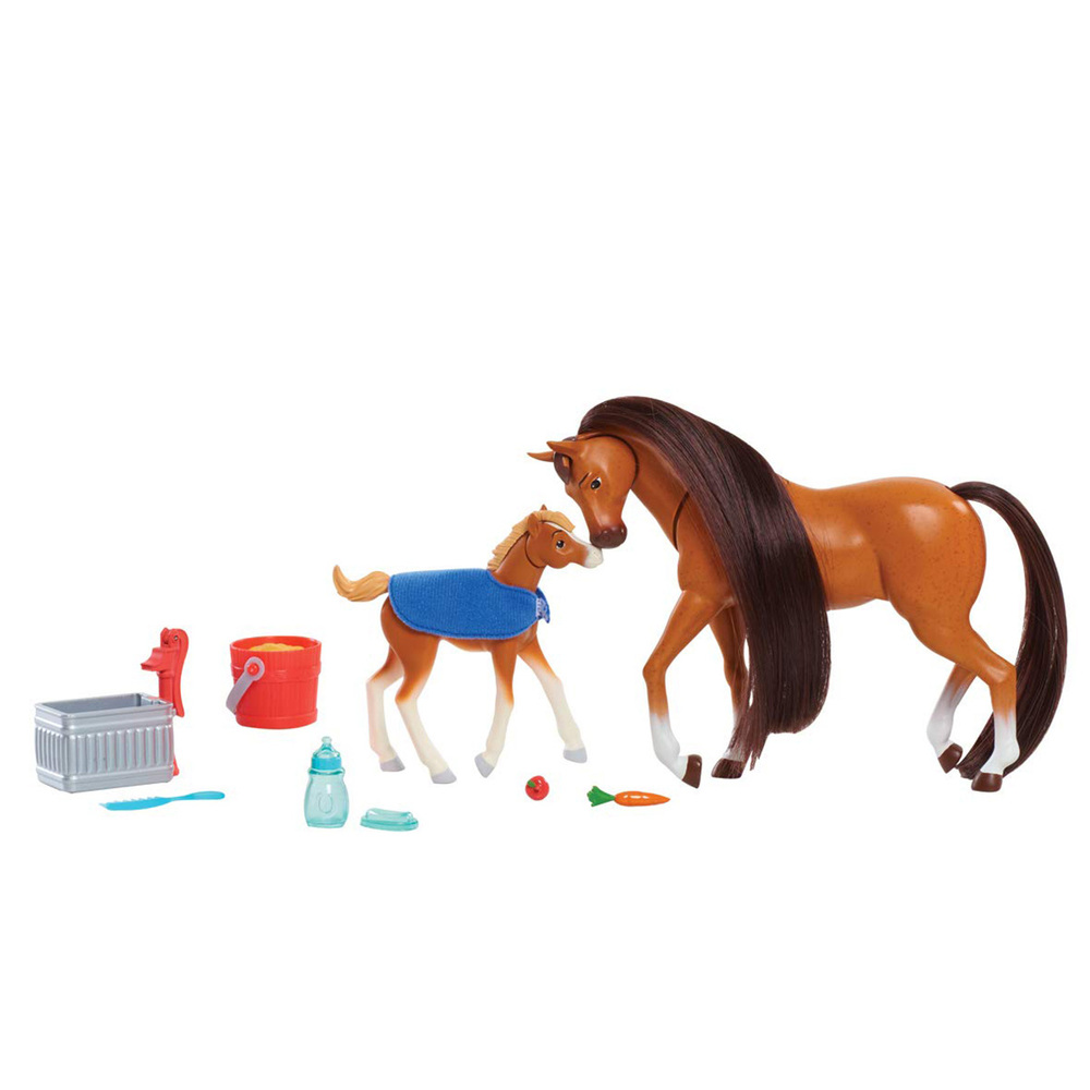 Dreamworks Spirit Riding Free Feed And Nuzzle Set 10 Pieces New