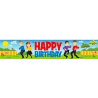 The Wiggles Happy Birthday Plastic Party Banner 150cm x 30cm