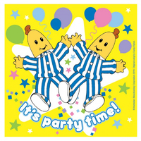 ABC Kids Bananas in Pyjamas 16cm Lunch Napkins 16 Pack