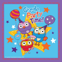 ABC Kids Giggle and Hoot 16cm Lunch Napkins 8 Pack