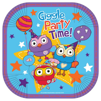 ABC Kids Giggle and Hoot 17cm Square Plates 8 Pack