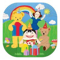 ABC Kids Play School 17cm Square Plates 8 Pack