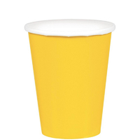Paper Cups 266ml Yellow 20 Pack