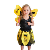 The Wiggles Dress Up Emma Costume with Skirt Wand and Wings Yellow
