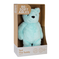 Resoftables Ted the Teddy Medium Plush Toy 32cm Blue