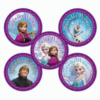 30 Frozen Round Labels Pack