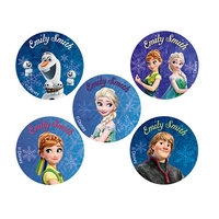 60 Frozen Fever Round Labels Pack