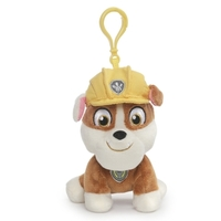 Paw Patrol Rubble Backpack Clip Soft Toy 13cm