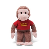 Curious George Beanie Soft Plush Toy Small 20cm with Red Shirt
