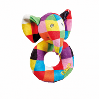 Elmer Baby Ring Rattle 12cm