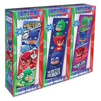 PJ Masks 3 in 1 Tower Puzzle 21 pieces