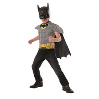Batman Moulded Costume Top Mask & Cape Kids Costume