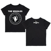 The Wiggles Presidential Seal Tour Kids T Shirt Black & White