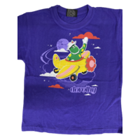 The Wiggles Dorothy The Dinosaur Plane Purple Kids T Shirt Purple