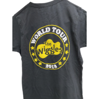 The Wiggles World Tour 2018 Adults T Shirt Black