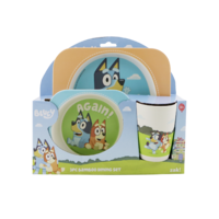 Bluey 3 Piece Bamboo Mealtime Set